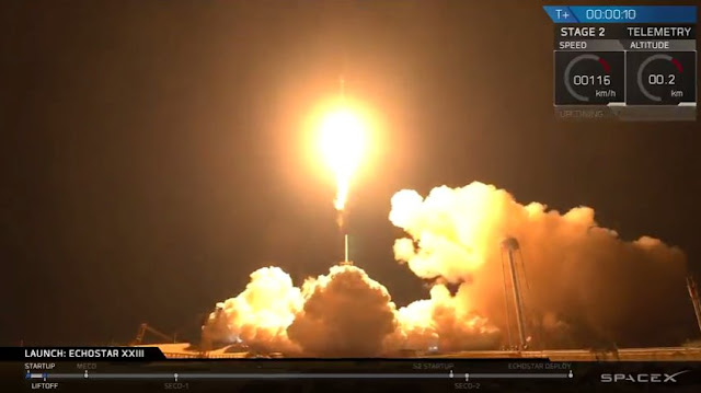 Reused SpaceX rocket to carry communications satellite into orbit