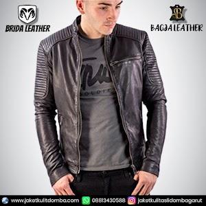 Jual Jaket Kulit Asli Garut Pria Domba Original Brida Leather B100 | WA 08813430588