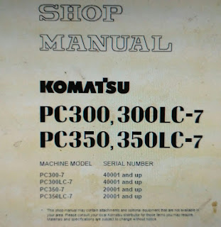 SEBM025812 shop manual PC300-7 pc300lc-7 pc350-7 pc350LC-7
