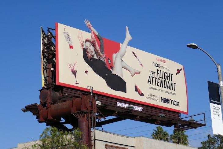 Flight Attendant series launch billboard