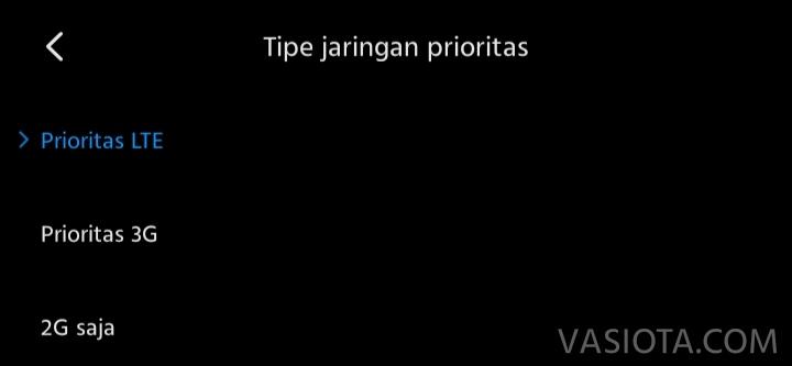 Pengaturan Jaringan Xiaomi