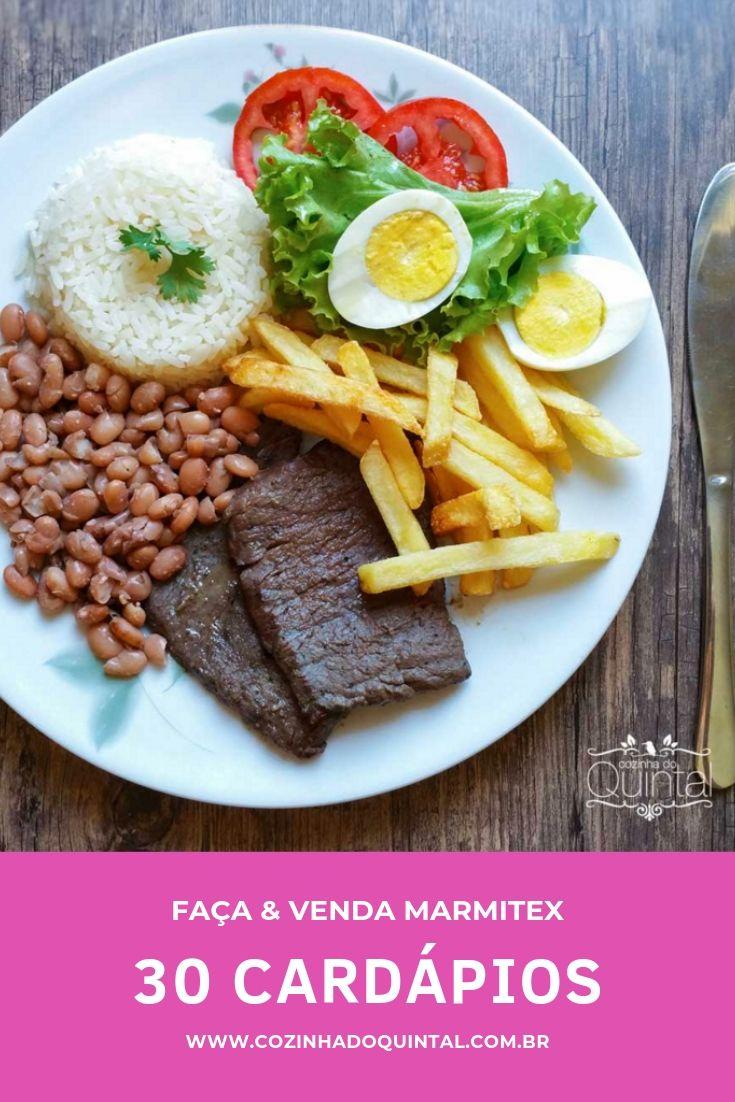 Cozinha do Quintal - 30 cardápios simples para marmitex