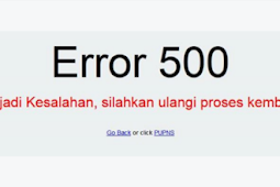 Cara Mengatasi Error 500 pada pendaftaran PUPNS