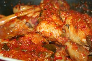 ayam rica-rica super pedas