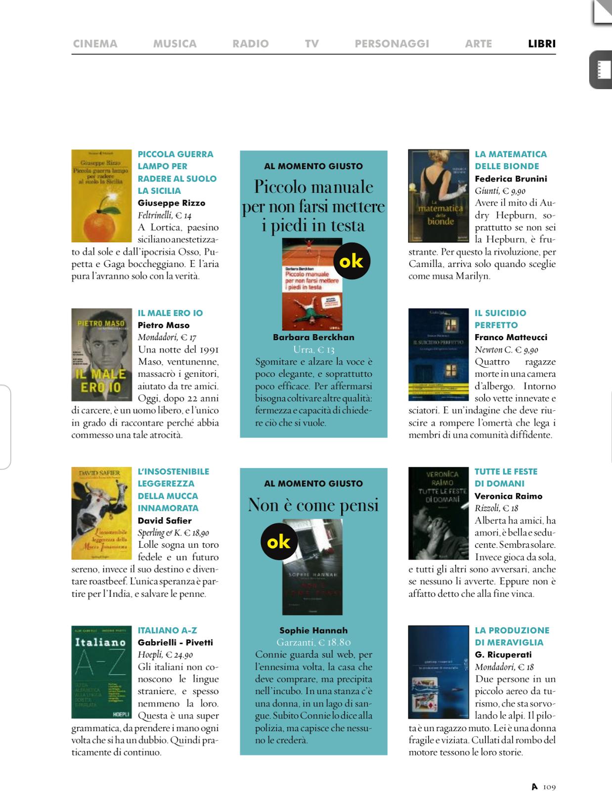 Piccolo Manuale Per Non Farsi Mettere I Piedi In Testa.La Rassegna Dei Libri Rassegna Dei Libri 17 Settimana Dal 25