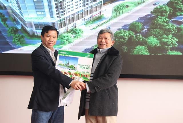 Khách hàng trúng thưởng chuyến du lịch Mỹ tại Eco green city
