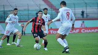مباراة الوداد واتحاد الجزائر في دوري ابطال افريقيا اليوم 24/1/2020