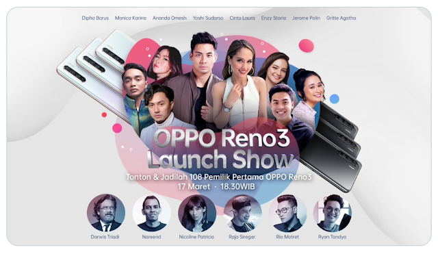Oppo Reno3 akan hadir di Indonesia 17 Maret 2020