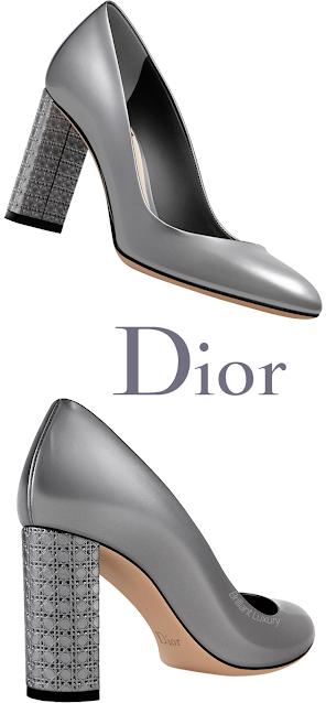 Silver Dior Blockheel Pumps #brilliantluxury