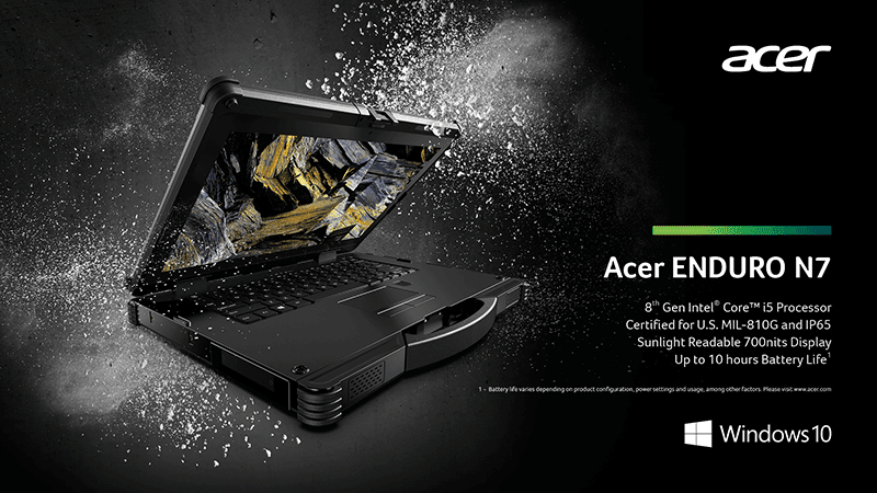 Acer launches Enduro line of rugged notebooks and tablets