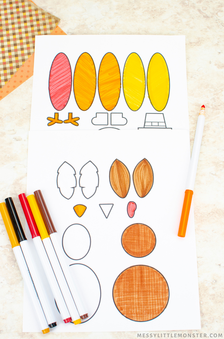 printable turkey craft template
