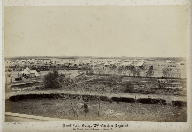 Rawal Pindi Camp 2nd Cheshire Regiment - 1884