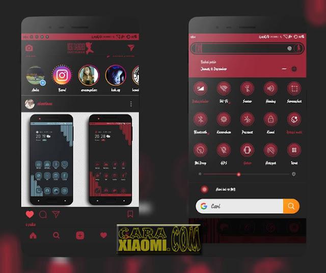 MIUI Theme Meki Red Dark Mtz For Xiaomi [Update Release]