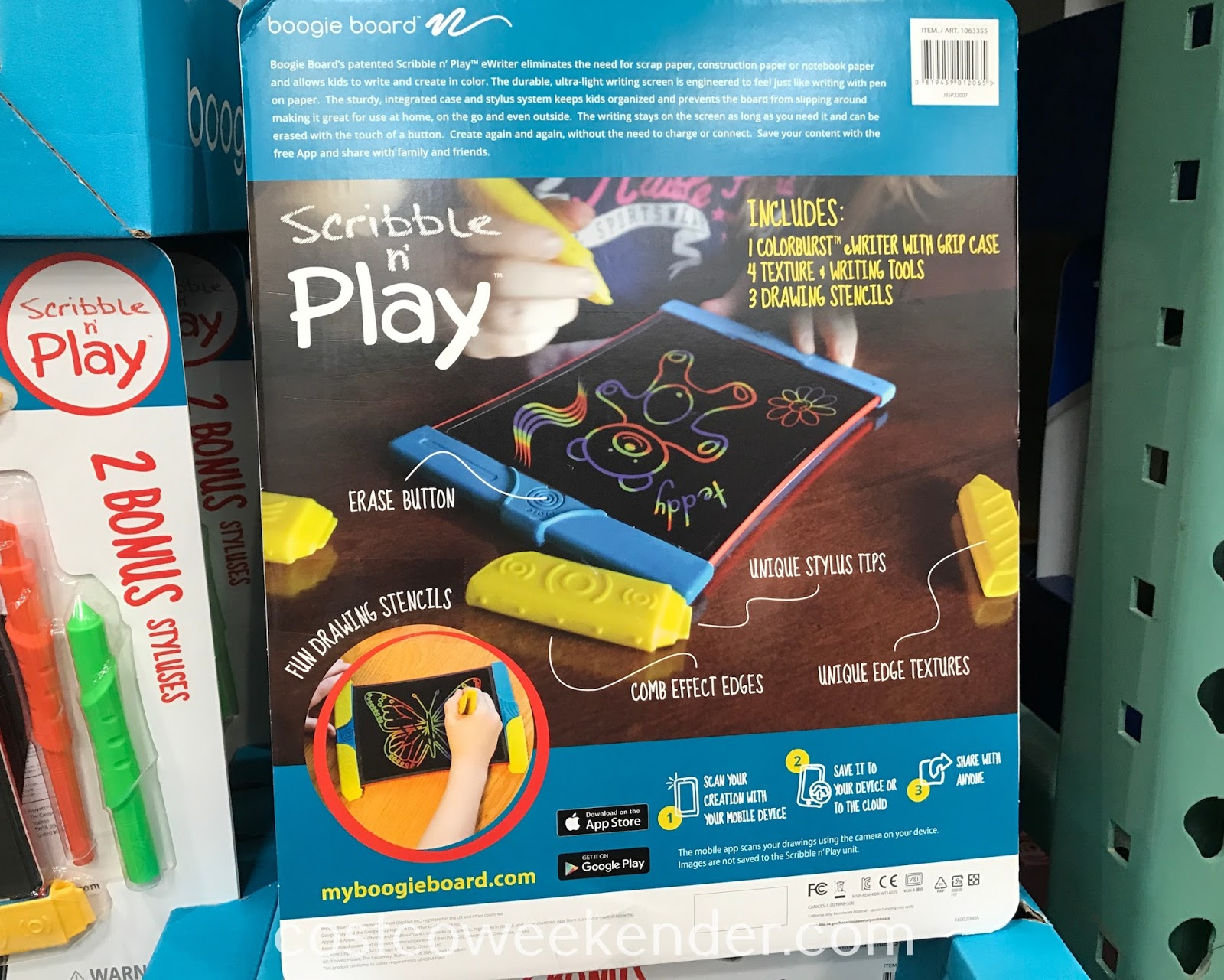Costco 1063355 - Boogie Board Scribble n' Play eWriter gives your kids something fun and educational