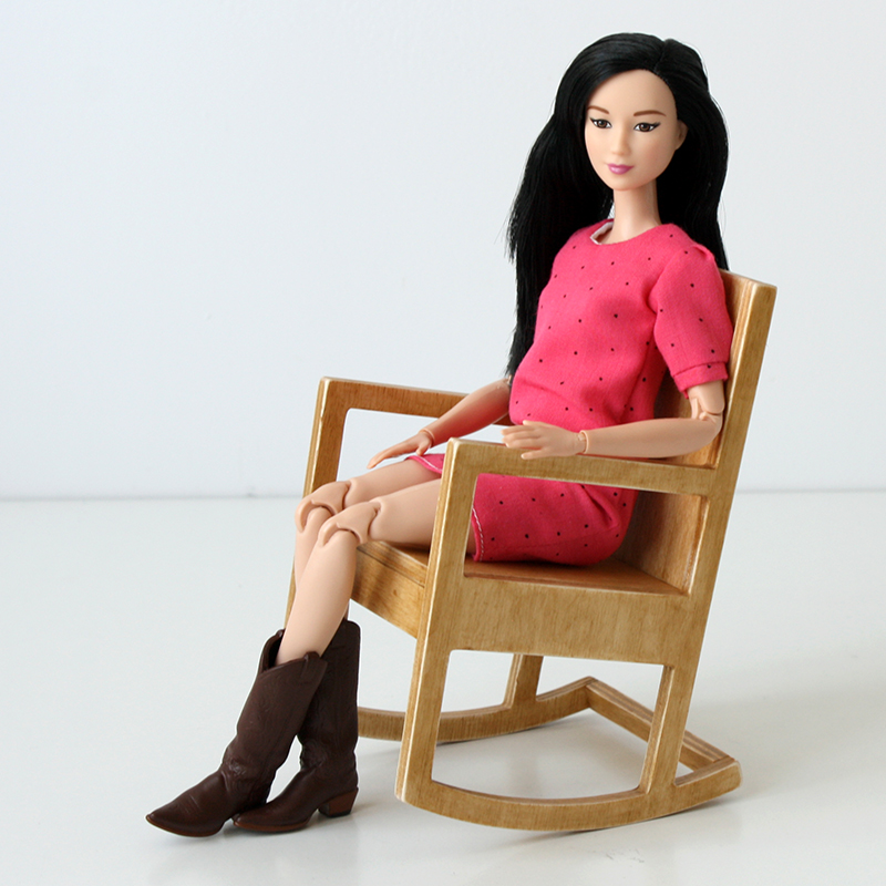 playscale rocking chair for made to move Barbie doll