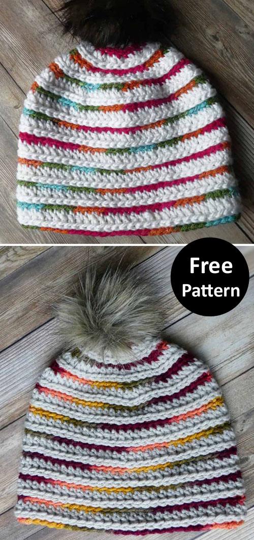 Top Down TC Beanie - Free Crochet Pattern