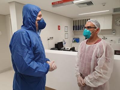 Cabrini em hospital da capital paulista (Divulgação/SBT)