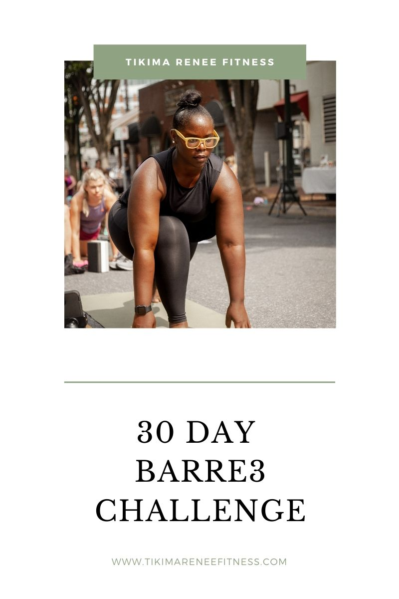 30 Day Barre3 Challenge, Tikima in low lunge