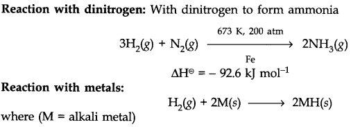 Properties of Dihydrogen