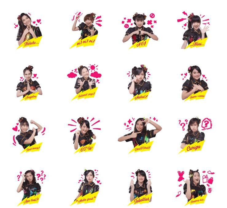 stiker line jkt48   mae shika mukane haruka nakagawa