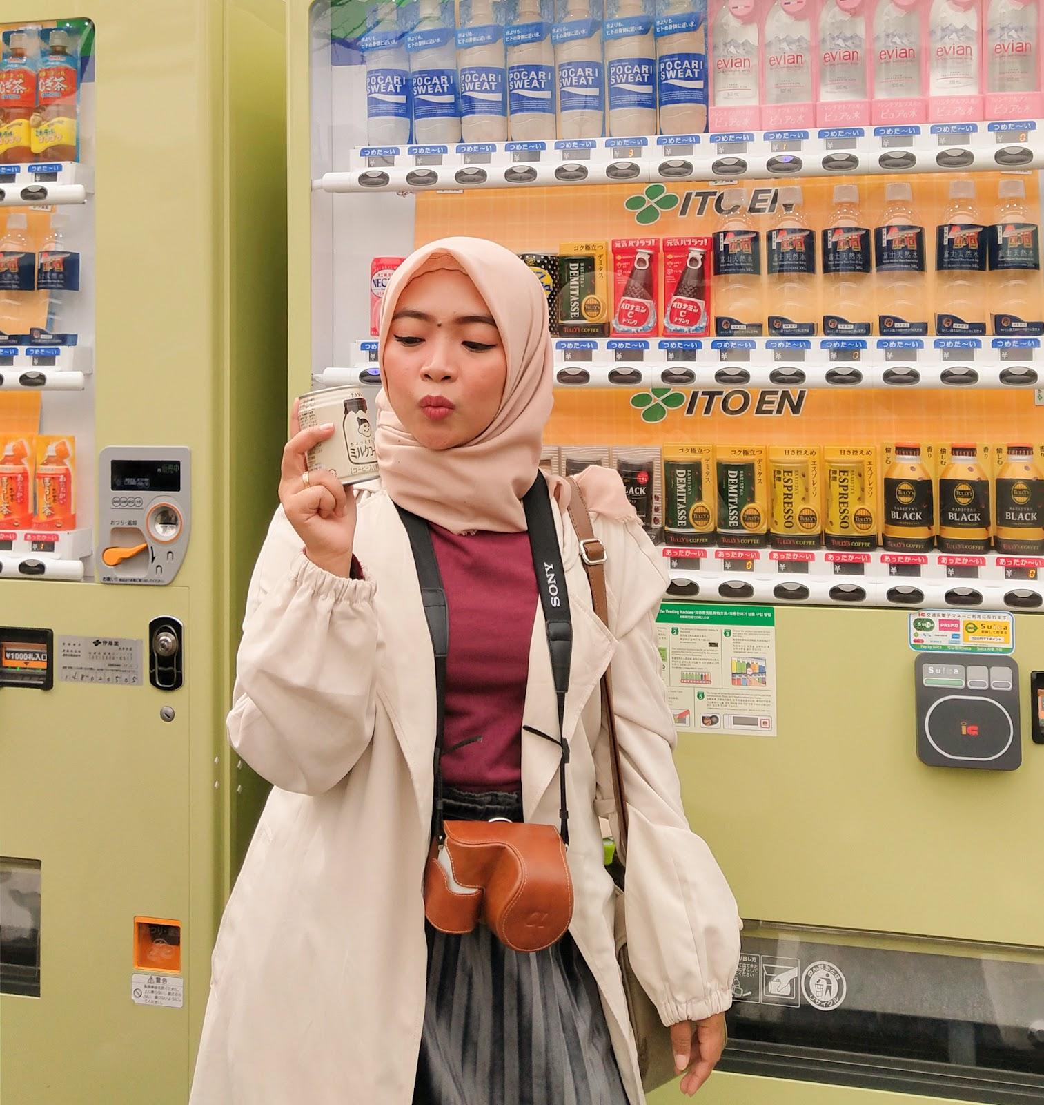 wisata kuliner di jepang, japanese vending machine, jepang kuliner