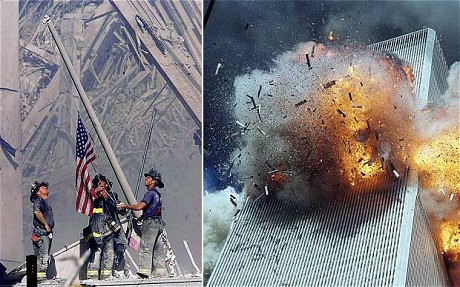 local pot years on the day we will never forget america on 9 11 firemen at the world trade center the second tower under attack