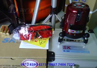Jual Cross Line Laser Level SK SL-50P ( 4V-1H-1D)