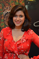 Mannara Chopra in deep neck Short red sleeveless dress Cute Beauty ~  Exclusive Celebrities Galleries 037.JPG