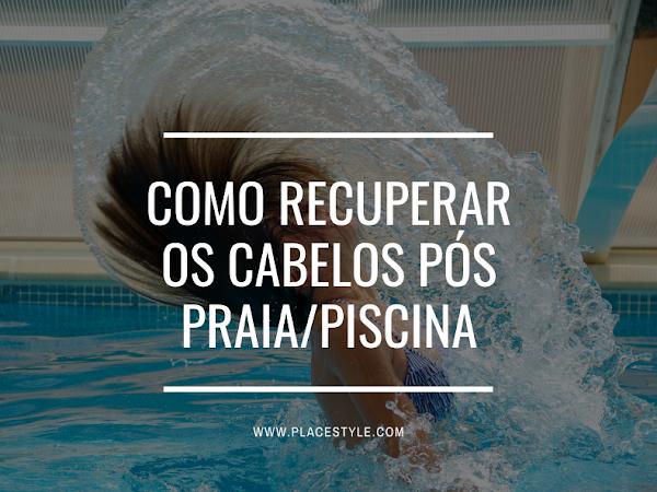 Como recuperar os cabelos pós praia/piscina