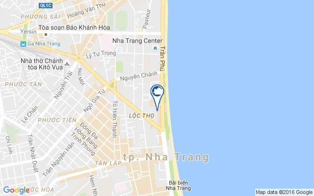 Vị trí khu phức hợp Tropicana Nha Trang