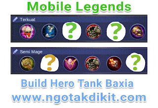 Build Tersakit GG Hero Tank Baxia Terbaru