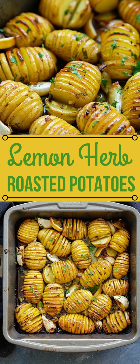 LEMON HERB ROASTED POTATOES #vegetarian #easy #recipes #breakfast #dinner