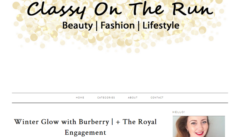 bbloggers, bbloggersca, canadian beauty bloggers, beauty blog, featured blogger, blog of the month, classy on the run, cbb