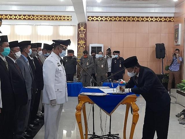 Bupati Lampung Utara, H. Budi Utomo, SE.,M.M., Hadiri Pelantikan Pejabat di Lingkungan Pemerintah Kabupaten Lampung Utara