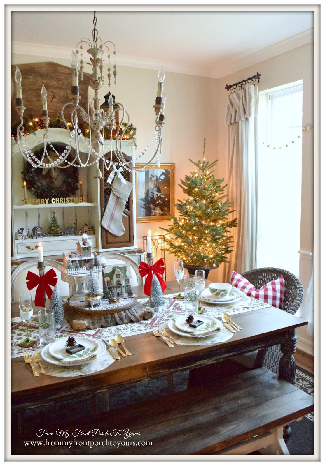 From My Front Porch To Yours: Farmhouse Christmas Dining Room
