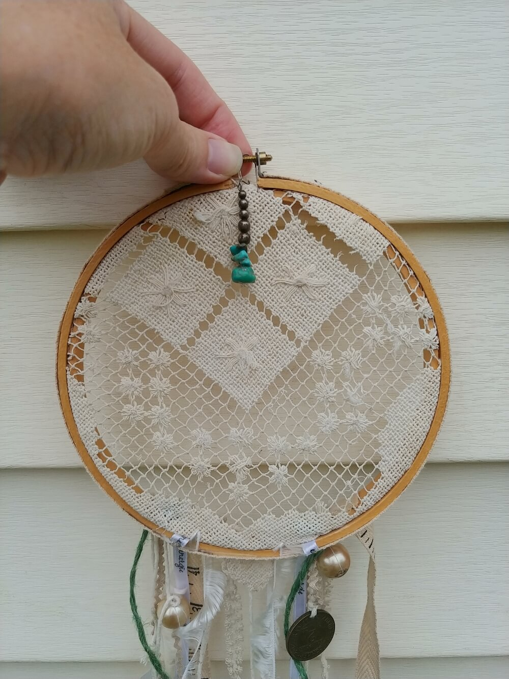 DIY Upcycled Dream Catcher - 7 Days of Thrift Shop Flips - Day Six