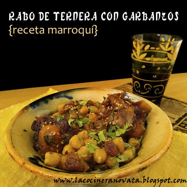 Rabo de ternera con garbanzos receta marroqui cocina casqueria marruecos guiso legumbres comfortfood casero especias arabe