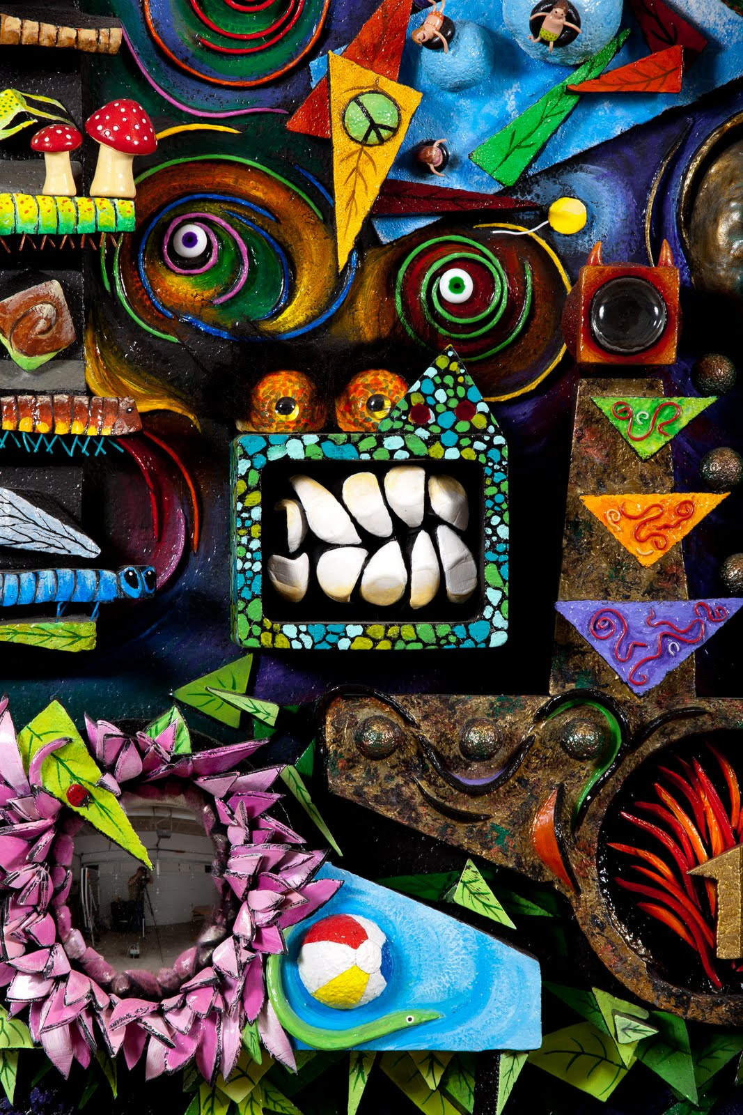 Is Acrylic Paint Toxic >> Victoria Kerr Art: 3-Dimensional collage, 4' x 4', made using cut and glued Styrofoam, Celluclay ...