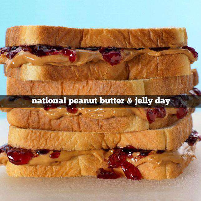 National Peanut Butter and Jelly Day Wishes Beautiful Image