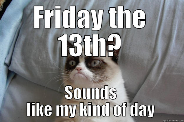 #FridayFrivolity - Friday the 13th Funnies & Wise Advice!  Cats, Dogs, the Office, the most interesting man in the world... we've got it all!  Plus the linky party for all things fun, funny, happy & hopeful!