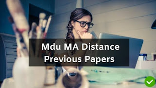 Mdu MA DDE Distance Previous Year Question Papers