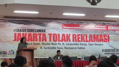 Ratna Sarumpaet Bersumpah untuk Terus Tolak Reklamasi dan Desak DPR Bentuk UU