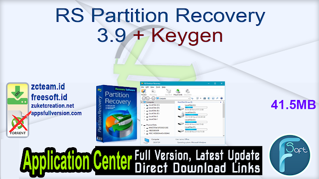 RS Partition Recovery 3.9 + Keygen_ ZcTeam.id