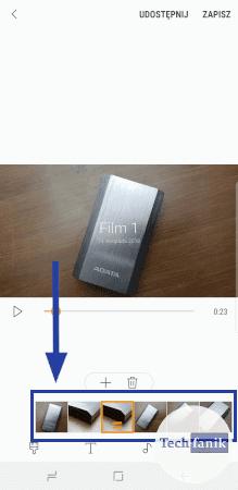 Jak zmienić kolejność zdjęć w klipie?