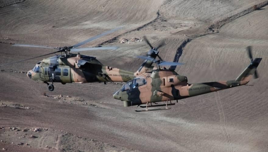 Κατάρριψη τουρκικού επιθετικού ελικοπτέρου ΑΗ-1 Cobra από βλήμα SA-16 του ΡΚΚ στην Ν.Α. Τουρκία (vid)