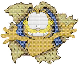 Garfield, cartoon, cross-stitch, back stitch, cross-stitch scheme, free pattern, x-stitch, stitch, free, вышивка крестиком, Гарфилд бесплатная схема, хрестик, Гарфілд, punto croce, schemi punto croce gratis