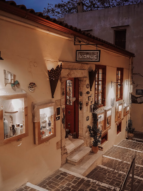 Greek island of Crete boutique shop