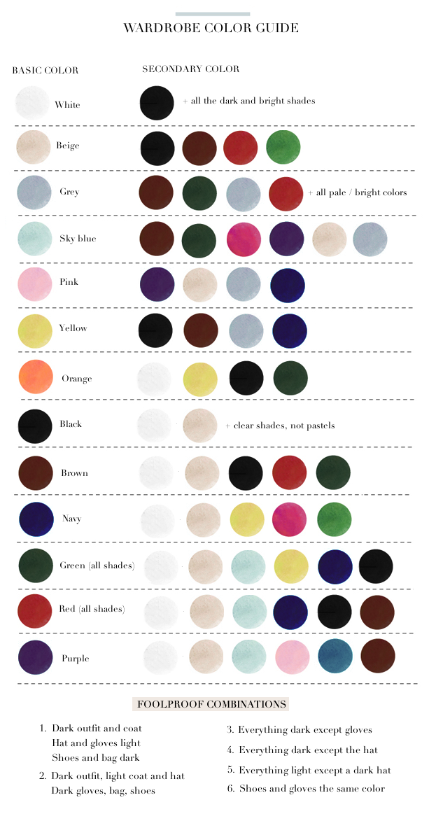 Paris to go wardrobe color guide - How to know what colors match ...