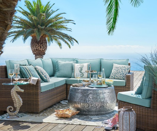 Outdoor Blue Beach Decor from Pier 1