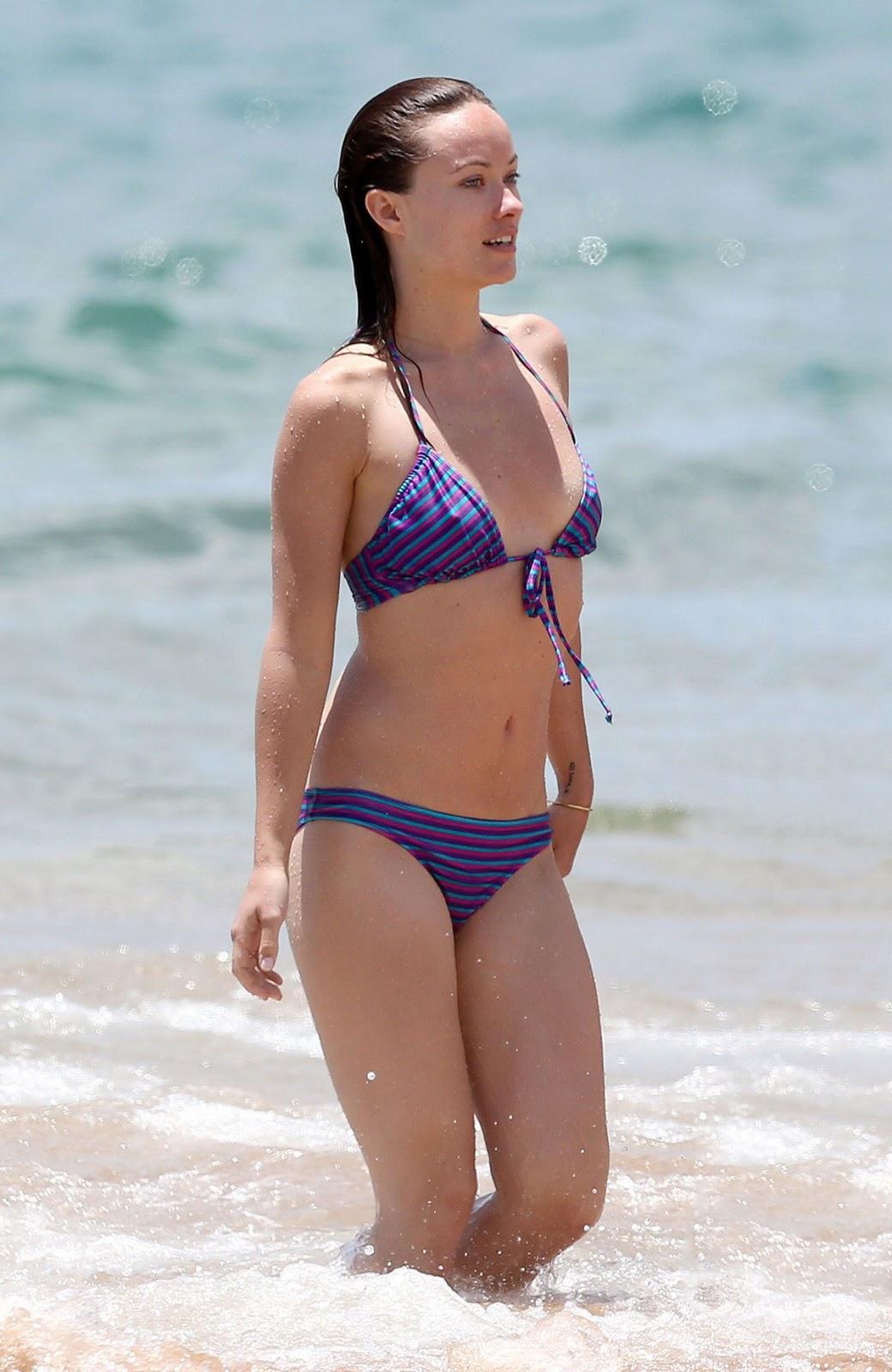 Olivia Wilde In Bikini At The Beach In Hawaii Hollywood